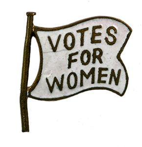A flag that says Votes for Women